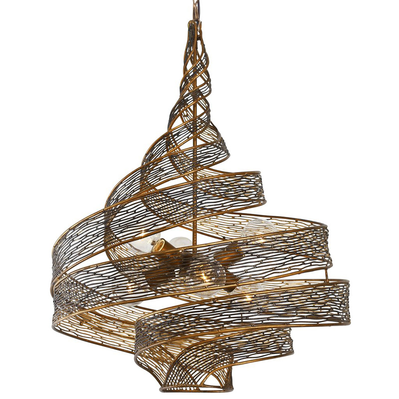 Spiral Copper Chandelier