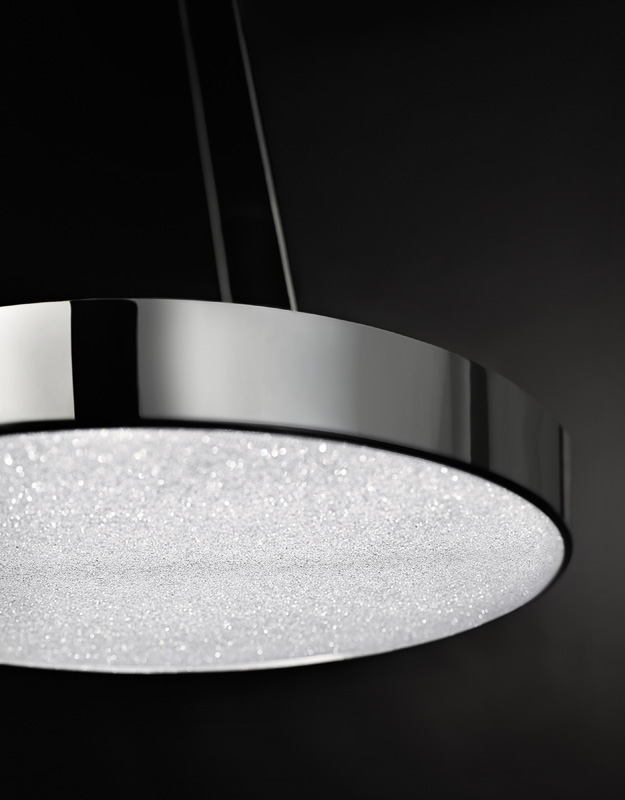 Black and White Overhead Light